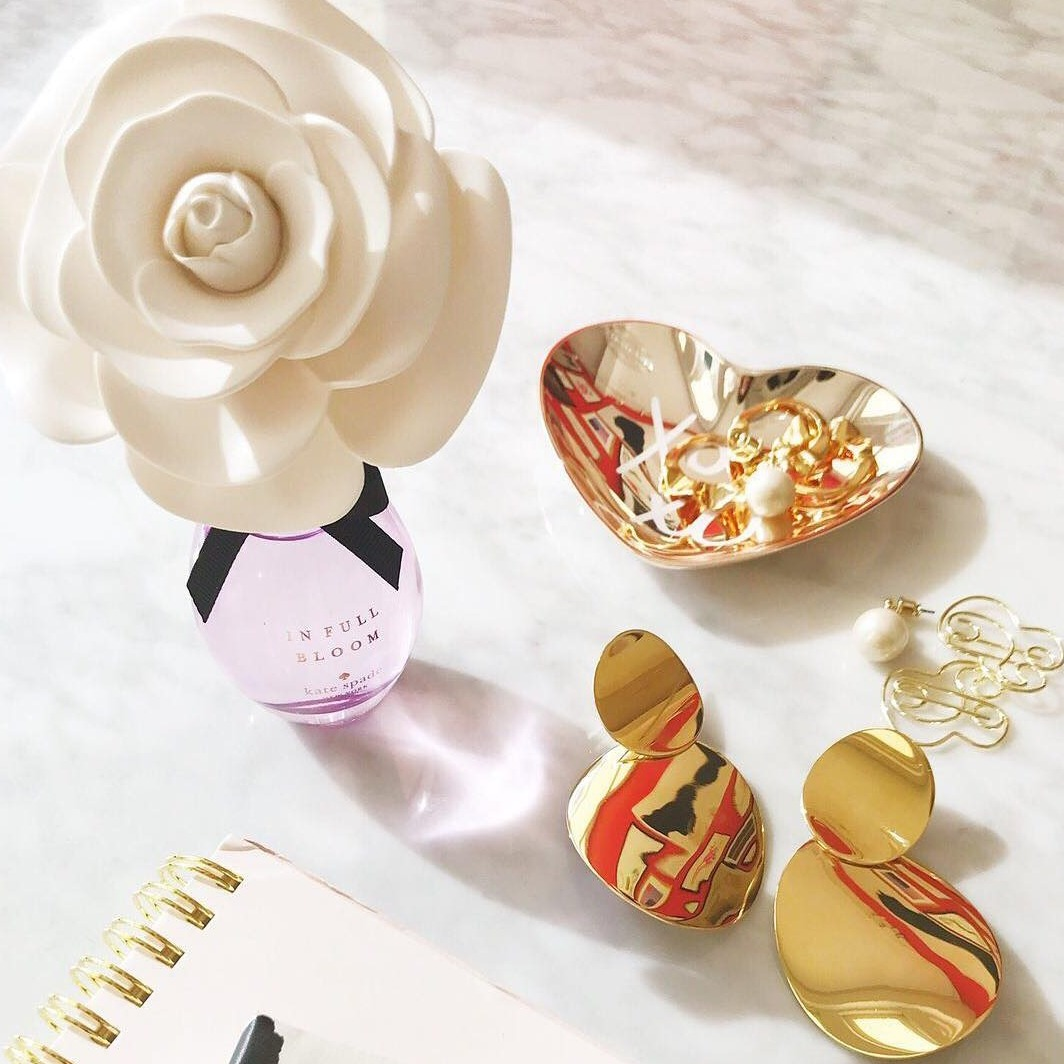 999 Fine Gold Plated Rose Glass Drop Pendant! d88