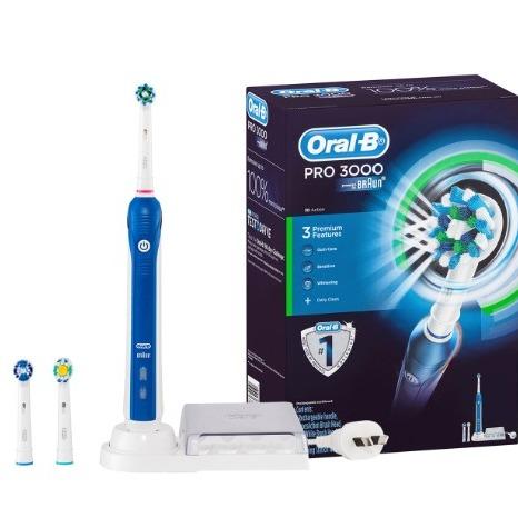 Oral-B Pro 3000 5件套充电电动牙刷套装