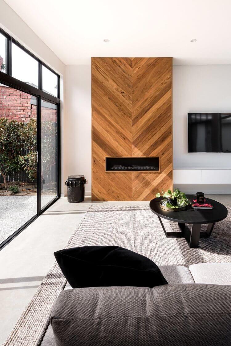 家装墙面木板设计