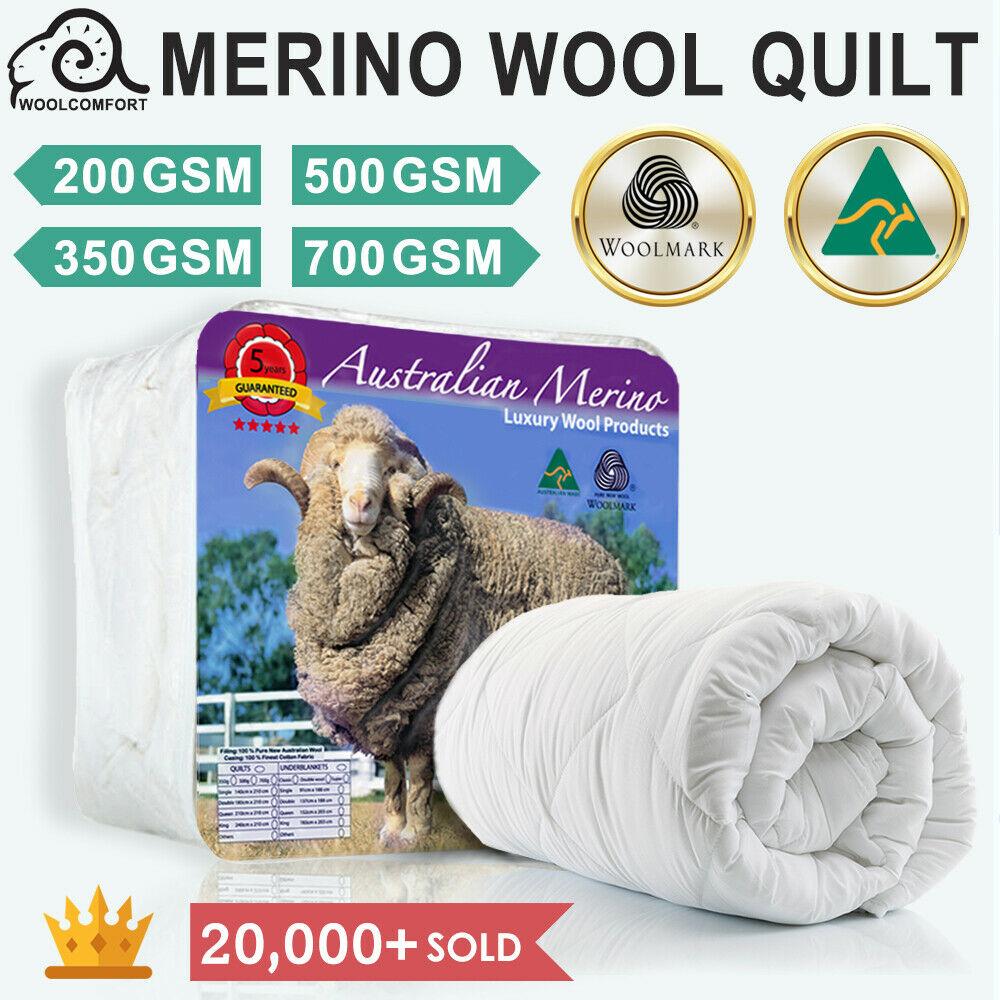 Merino Wool 澳洲羊毛被 200 GSM – 700 GSM 100%
