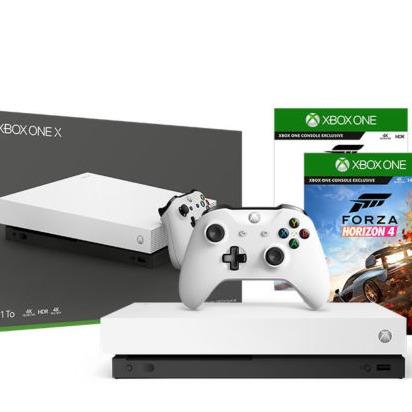 Microsoft微软 Xbox One X 1TB 白色特别版+游戏机套装