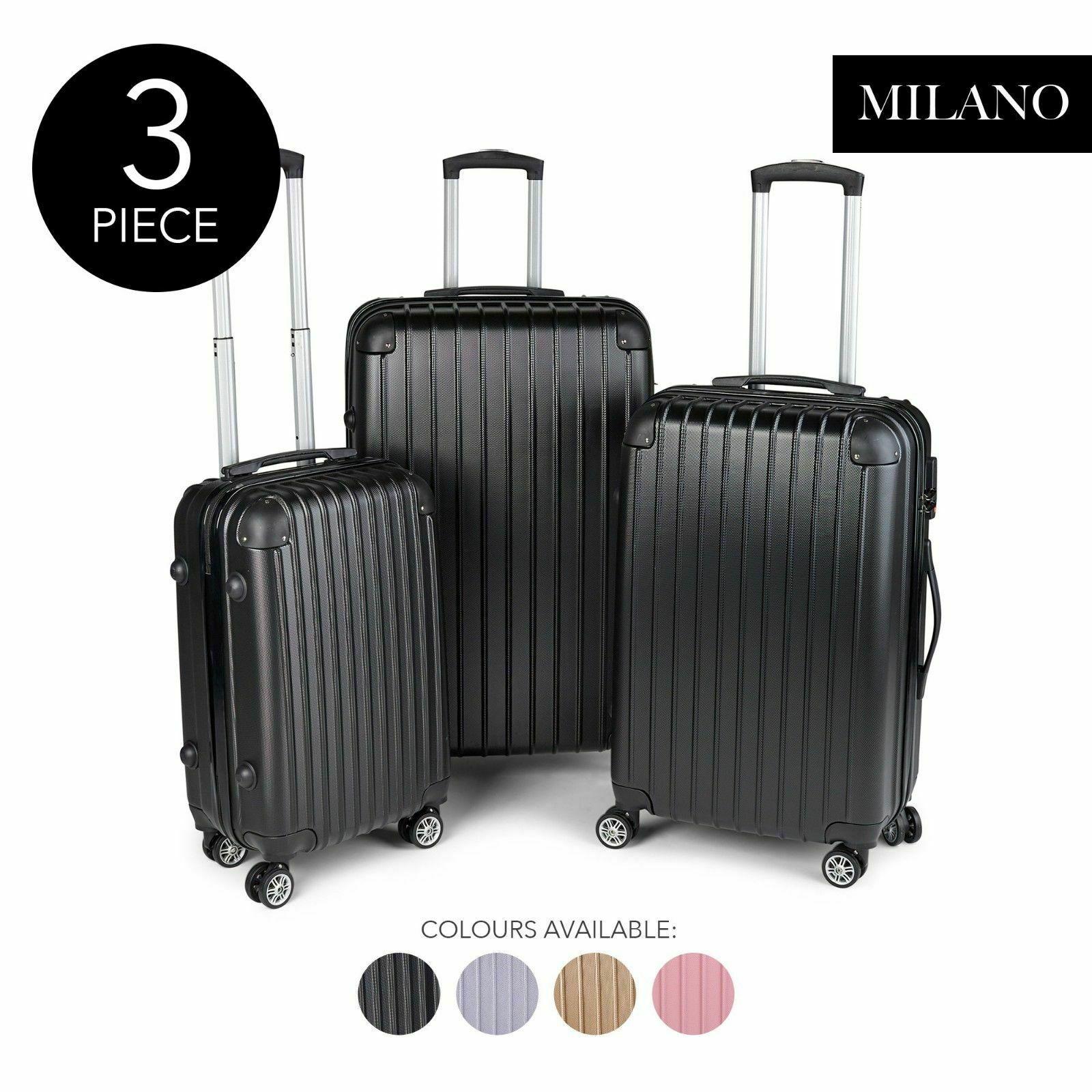 Milano 3件套硬壳防震行李箱 多色可选