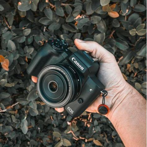 史低价:Canon佳能 EOS M50 高清数码入门必备相机套机