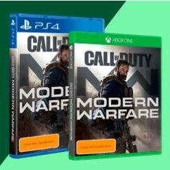 新版预售:使命召唤现代战争 PS4、Xbox one版可选