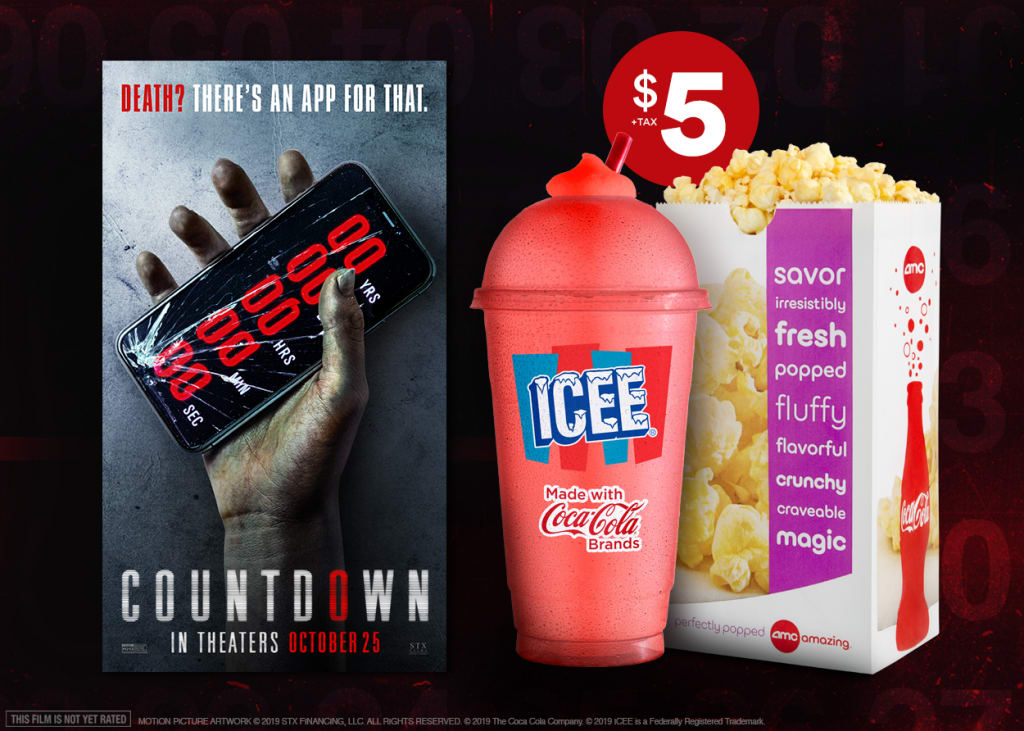 21 Oz Icee And Cameo Size Popcorn Combo With Countdown 5 Dealmoon