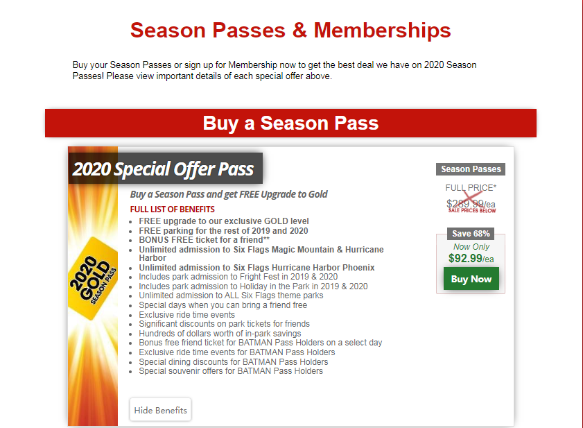 Ending Soon Six Flags Magic Mountain Black Friday Cyber Monday Sale Dealmoon