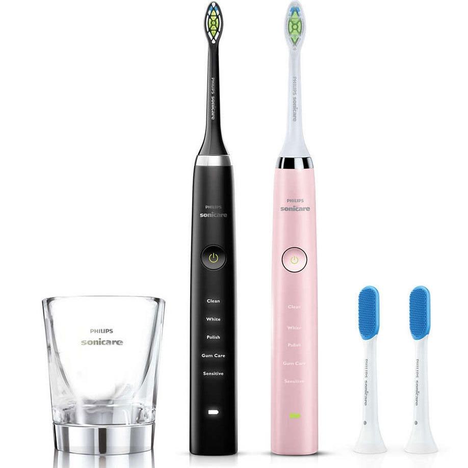 限今天:Philips飞利浦 钻石亮白电动牙刷 情侣套装